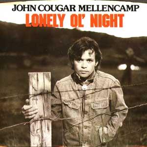 John Cougar Mellencamp Lonely Ol Night 3 44 B W The